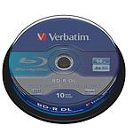Verbatim BD-R DL 50 Go certifié 6x (pack de 10, spindle) pas cher