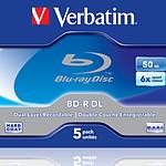 Verbatim BD-R DL 50 Go certifié 6x pack de 5 pas cher