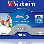 Verbatim BD-R DL 50 Go 6x imprimable (par 10, boîte) pas cher