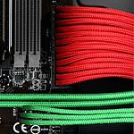 BitFenix Alchemy Red - Câble d'alimentation gainé - 3 pins vers 3x 3 pins - 60 cm pas cher
