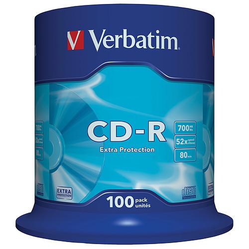 Verbatim CD-R 700 Mo 52x (spindle de 100) pas cher