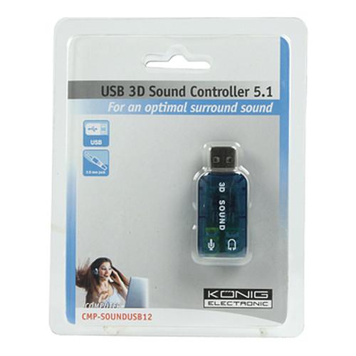 König USB 3D Sound Controller 5.1 pas cher