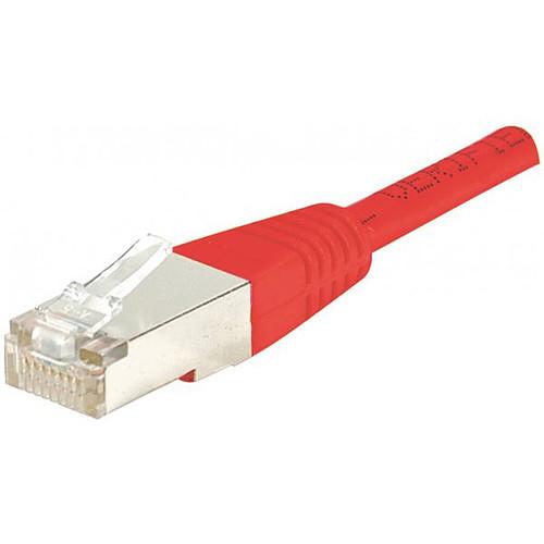 Câble RJ45 catégorie 5e F/UTP 0,5 m (Rouge) pas cher
