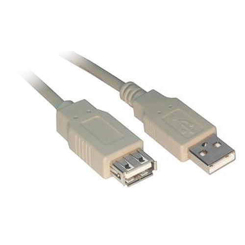 Rallonge USB 2.0 Type AA (Mâle/Femelle) - 0.5 m pas cher
