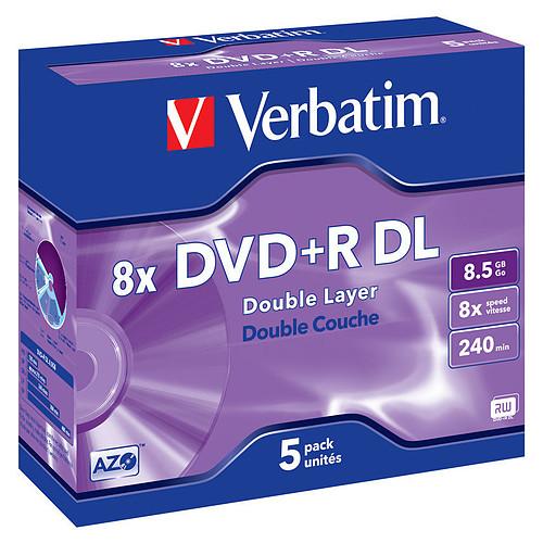 Verbatim DVD+R DL 8.5 Go 8x 240 min (par 5, boitier jewel) pas cher