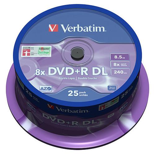Verbatim DVD+R DL 8.5 Go 8x 240 min (par 25, spindle) pas cher