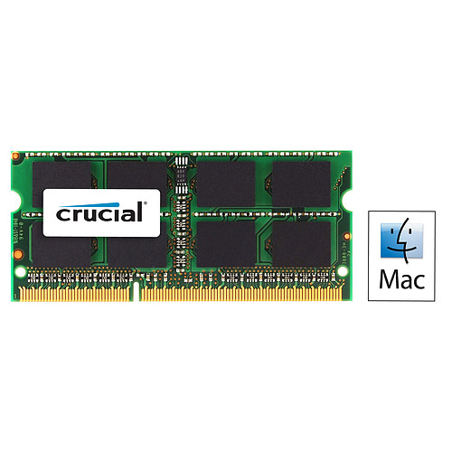 Crucial for Mac SO-DIMM 8 Go DDR3L 1866 MHz CL13 pas cher