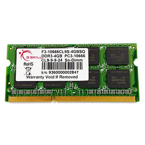G.Skill SODIMM 4 Go DDR3 1600 MHz pas cher