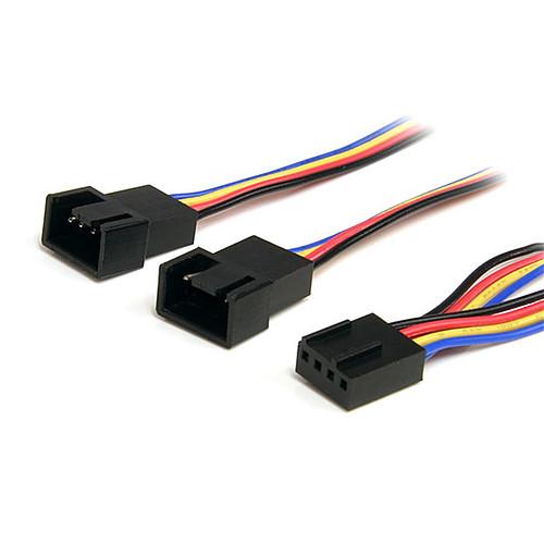 StarTech.com Doubleur d'alimentation pour ventilateurs 4 broches PWM - 30 cm pas cher