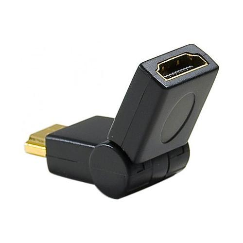 Adaptateur articulé HDMI mâle / HDMI femelle avec connecteurs plaqués or pas cher