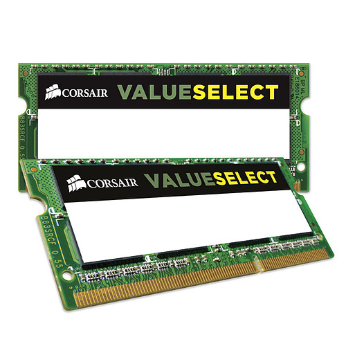 Corsair Value Select SO-DIMM 8 Go (2 x 4 Go) DDR3L 1600 MHz CL11 pas cher