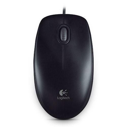 Logitech B100 Optical USB Mouse (Noir) pas cher