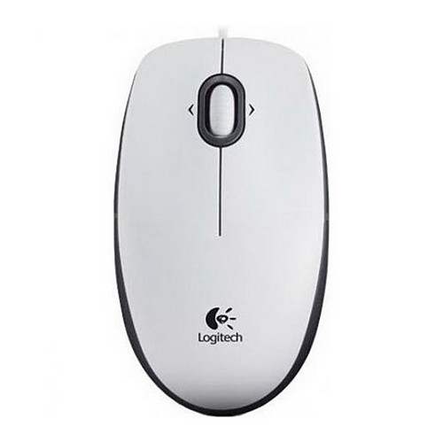 Logitech B100 Optical USB Mouse (Blanc) pas cher