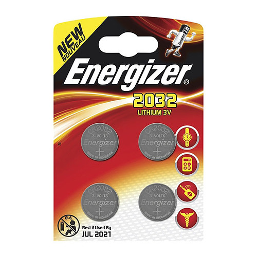 Energizer 2032 Lithium 3V (par 4) pas cher