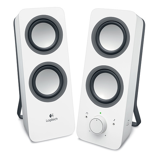 Logitech Multimedia Speakers Z200 (Blanc) pas cher