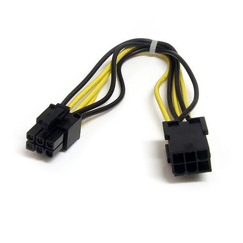 StarTech.com Adaptateur d'alimentation PCI-Express mâle/femelle 6 pins pas cher