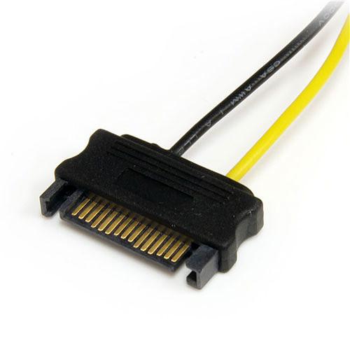 StarTech.com Câble adaptateur d'alimentation pour carte vidéo - 2x SATA vers PCIe 6 pins pas cher