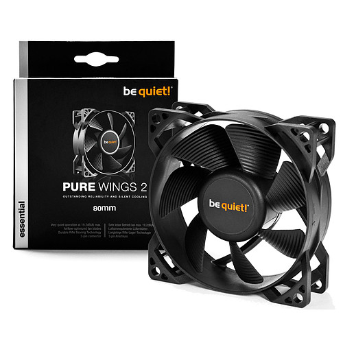 be quiet! Pure Wings 2 80mm pas cher