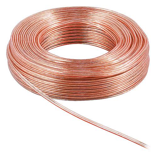 Câble Haut-Parleur 0.75 mm² en cuivre OFC - rouleau de 10 mètres pas cher