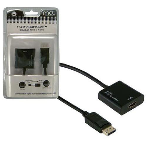 Adaptateur actif DisplayPort mâle / HDMI femelle (compatible 4K et 3D) pas cher