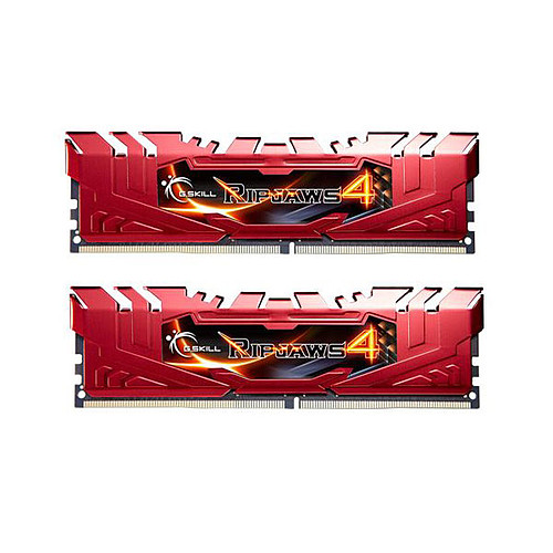 G.Skill RipJaws 4 Series Rouge 8 Go (2x 4 Go) DDR4 2400 MHz CL15 pas cher