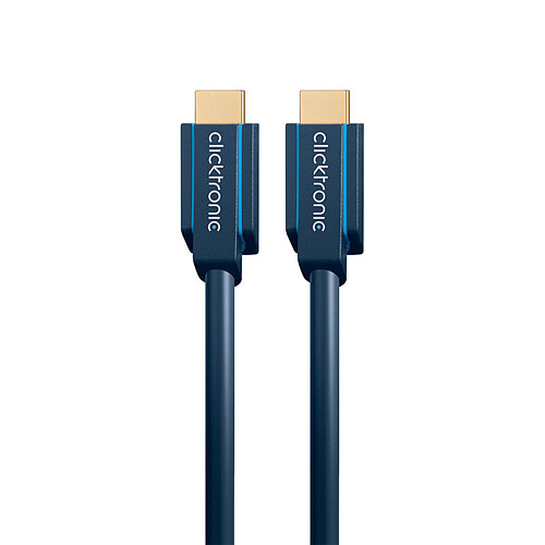 Clicktronic câble High Speed HDMI with Ethernet (2 mètres) pas cher