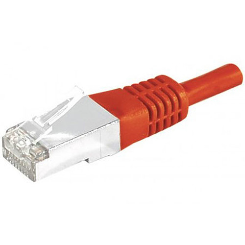 Câble RJ45 catégorie 6a S/FTP 5 m (Rouge) pas cher
