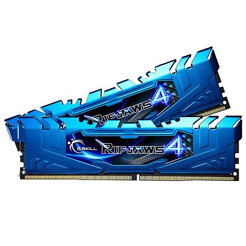 G.Skill RipJaws 4 Series Bleu 16 Go (2x 8 Go) DDR4 3000 MHz CL15 pas cher