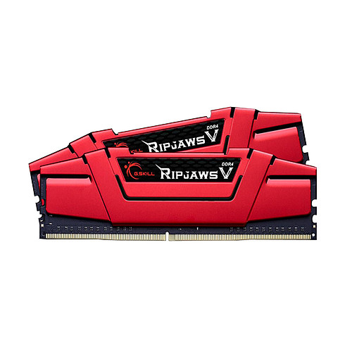 G.Skill RipJaws 5 Series Rouge 8 Go (2x 4 Go) DDR4 2400 MHz CL17 pas cher