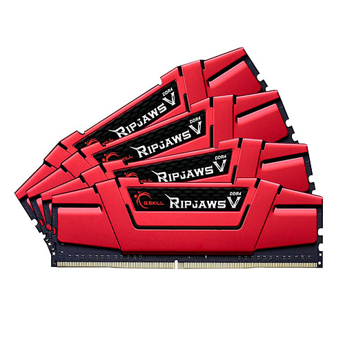 G.Skill RipJaws 5 Series Rouge 16 Go (4x 4 Go) DDR4 2400 MHz CL15 pas cher