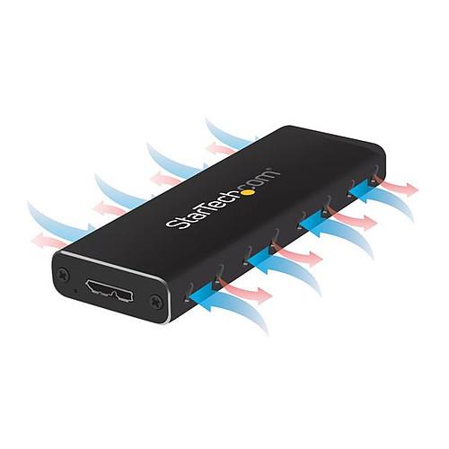 StarTech.com Boîtier USB 3.0 externe pour SSD M.2 SATA avec UASP pas cher