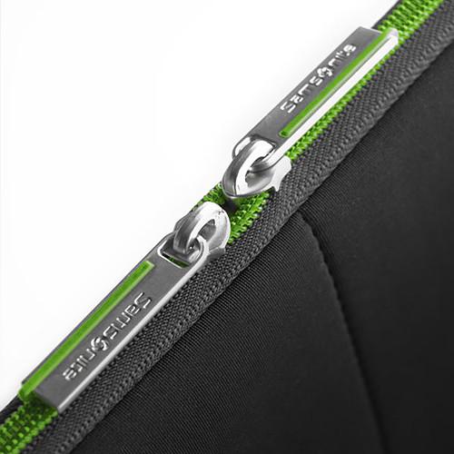 "Samsonite Airglow Sleeve 15.6"" (coloris noir/vert) pas cher"