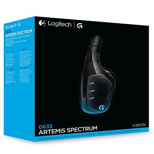 Logitech G633 Artemis Spectrum RGB 7.1 Surround Gaming Headset pas cher