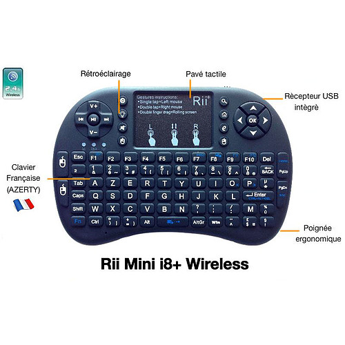 Riitek RII Mini i8+ Wireless pas cher