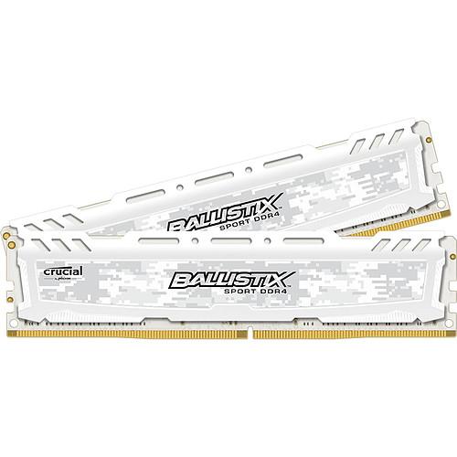 Ballistix Sport LT White 16 Go (2 x 8 Go) DDR4 2400 MHz CL16 SR pas cher