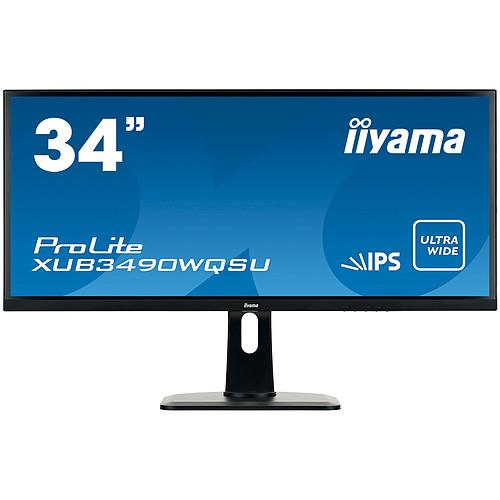 "iiyama 34"" LED - ProLite XUB3490WQSU-B1 pas cher"