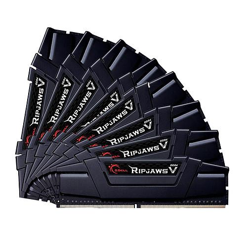 G.Skill RipJaws 5 Series Noir 128 Go (8x 16 Go) DDR4 3000 MHz CL14 pas cher