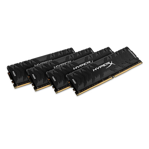 HyperX Predator Noir 64 Go (4x 16 Go) DDR4 3200 MHz CL16 pas cher