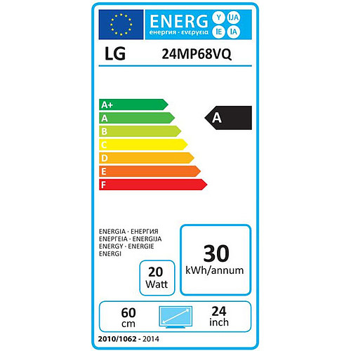 "LG 23.8"" LED 24MP68VQ-P pas cher"