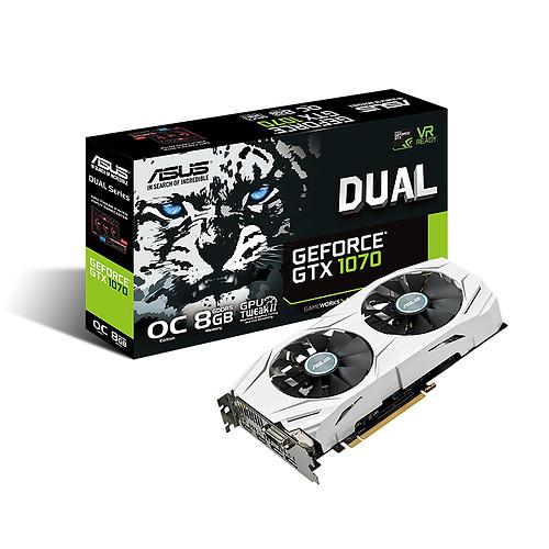 ASUS GeForce GTX 1070 DUAL-GTX1070-O8G pas cher
