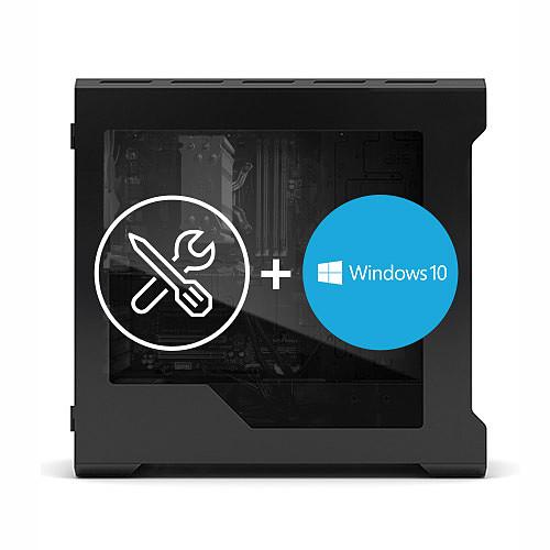 Montage d'un PC avec licence et installation Windows 10 Professionnel 64 bits pas cher