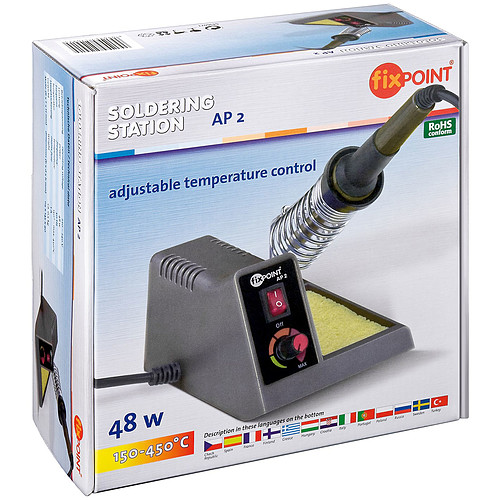 Station de soudure analogique (fer + support avec réglage analogique + éponge) pas cher