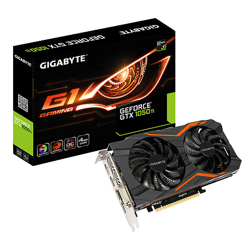 Gigabyte GeForce GTX 1050 Ti G1 GAMING 4G pas cher