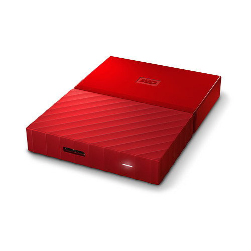 WD My Passport Thin 2 To Rouge (USB 3.0) pas cher