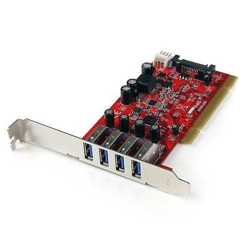 StarTech.com Carte contrôleur PCI 4 ports USB 3.0 pas cher