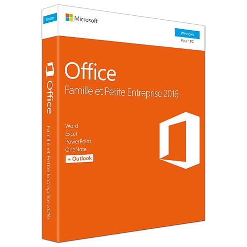 Microsoft Office Famille et Petite Entreprise 2016 pas cher
