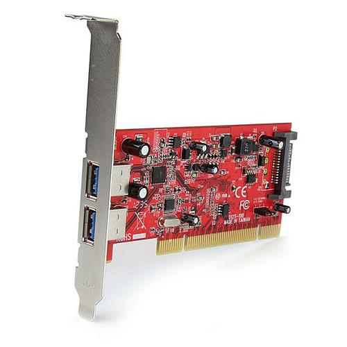 StarTech.com Carte contrôleur PCI (2 ports USB 3.0) pas cher