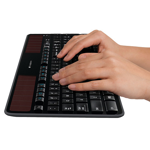 Logitech Wireless Solar Keyboard K750 (Noir) pas cher