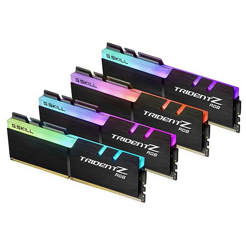 G.Skill Trident Z RGB 32 Go (4x 8 Go) DDR4 4000 MHz CL18 pas cher