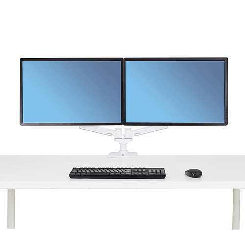 Ergotron LX bi-écran juxtaposés (blanc) pas cher